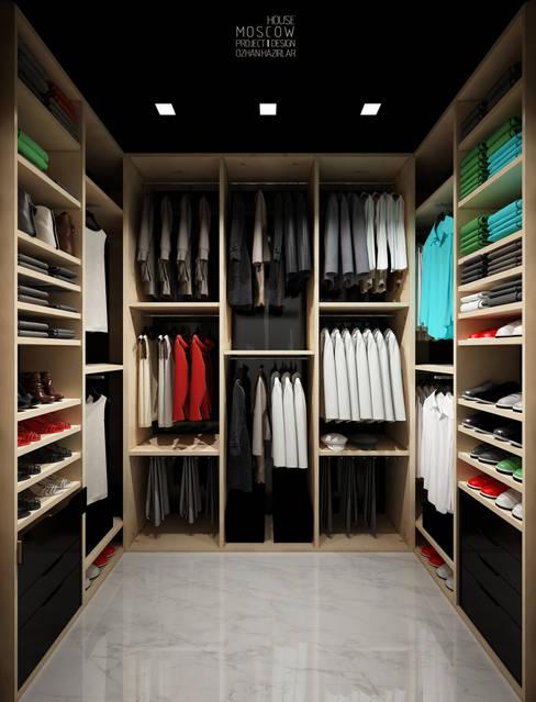 Dressing room by ÖZHAN HAZIRLAR İÇ MİMARLIK