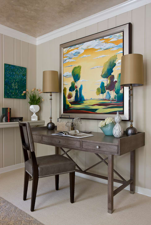 DC Design House - Desk:  Study/office by Lorna Gross Interior Design