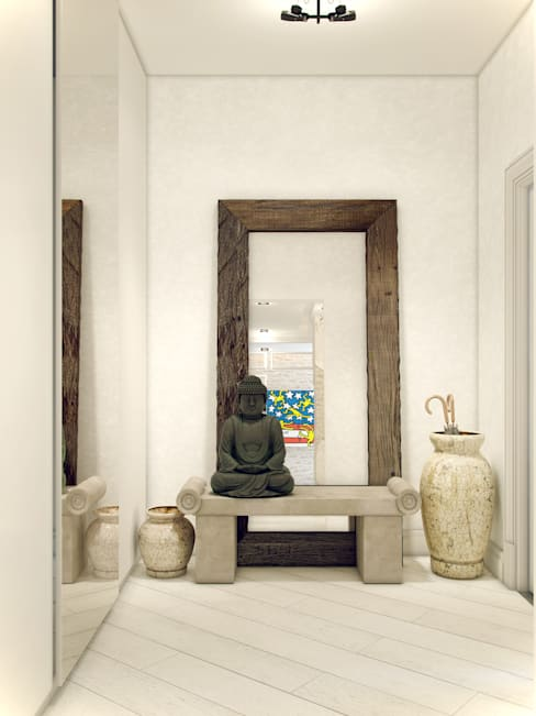 Pasillos y vestíbulos de estilo  por Студия дизайна интерьера ART-Labs