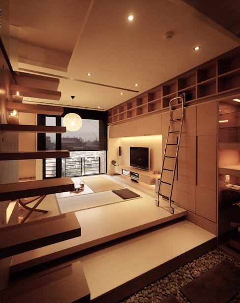 住宅(場域 ●界定):  走廊 & 玄關 by 鼎爵室內裝修設計工程有限公司