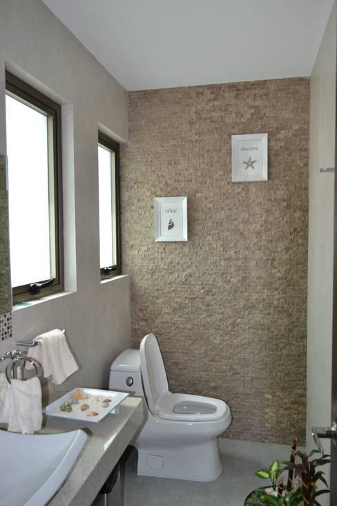 ANTARA DISEÑO Y CONSTRUCCIÓN SA DE CVが手掛けた浴室