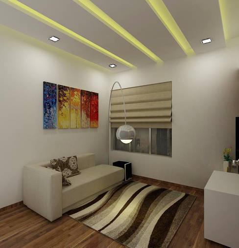 Den Area:  Media room by A Design Studio