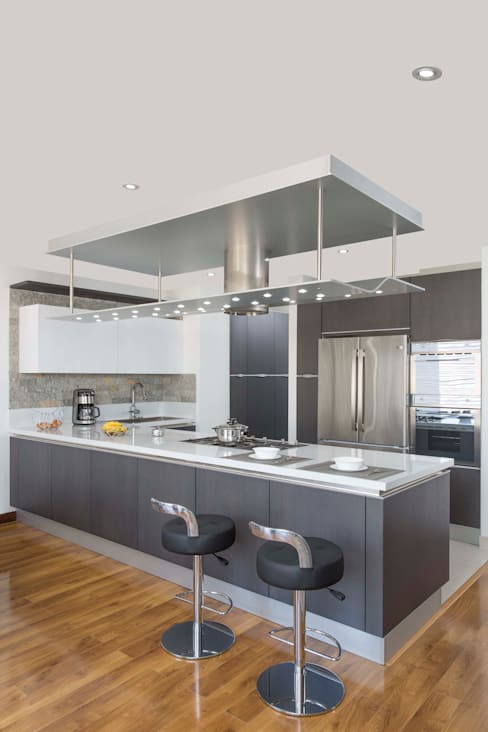 Projekty,  Kuchnia zaprojektowane przez ATELIER CASA S.A.S