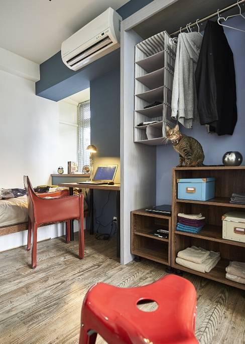 完善機能:  臥室 by 第宅空間設計