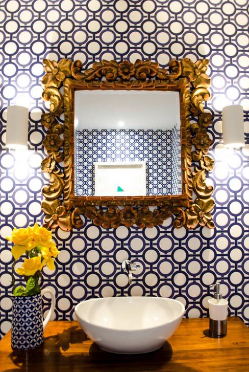 Apartamento Aristizabal - Alviar / Parte 1: Baños de estilo  por Tejero & Ángel Diseño de Interiores
