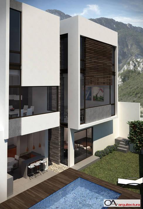 Casas de estilo  por OA arquitectura