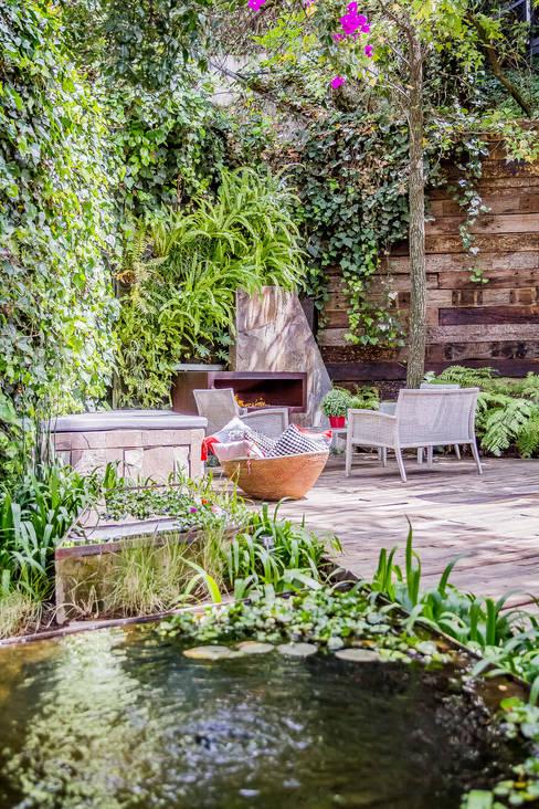 Jardines de estilo  por HDA: ARQUITECTURA BIOCLIMATICA