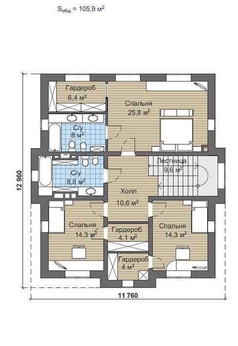 Дарли-1_304м2:  в . Автор – Vesco Construction