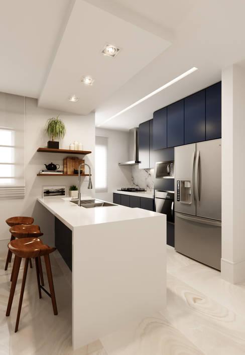 Cocinas de estilo  por Fabíola Escobar - Pratique Arquitetura