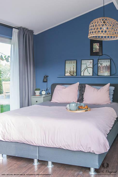 Licetto in de kleur Greek Sky:  Slaapkamer door Pure & Original