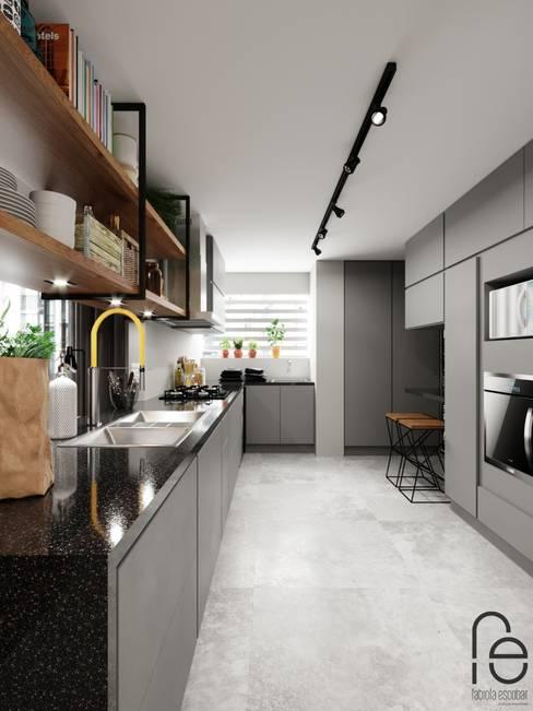 Cocinas equipadas de estilo  por Fabíola Escobar - Pratique Arquitetura