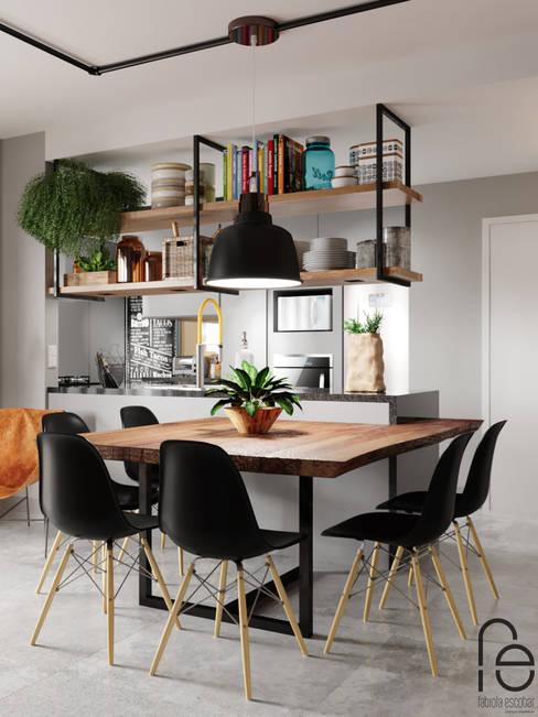 Comedores de estilo  por Fabíola Escobar - Pratique Arquitetura