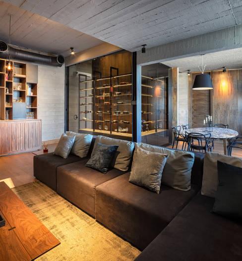 Wine cellar by Garza Maya Arquitectos