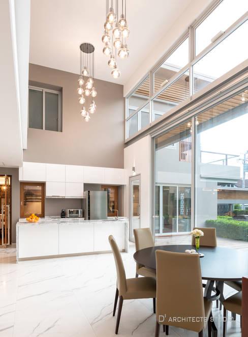 غرفة السفرة تنفيذ D' Architects Studio
