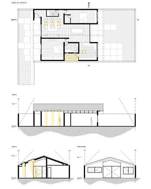 Planimetría proyecto. :  de estilo  por D01 arquitectura