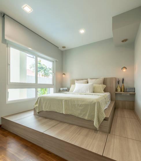غرف نوم صغيرة تنفيذ VOILÀ Pte Ltd
