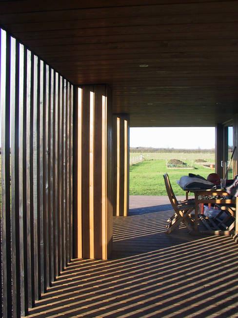 Casas de madera de estilo  por Ecospace Italia srl