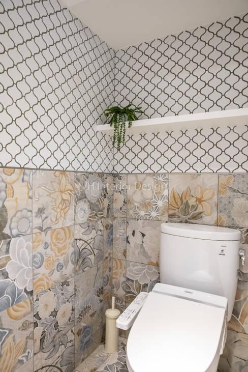 東湖陳公館:  浴室 by VH INTERIOR DESIGN