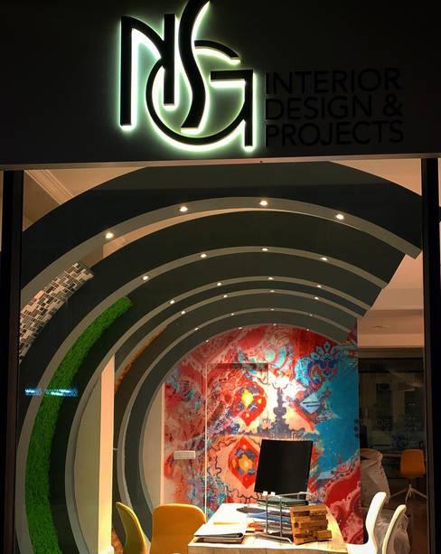 RESULTADO FINAL: Oficinas y Tiendas de estilo  de NSG interior Design & Projects