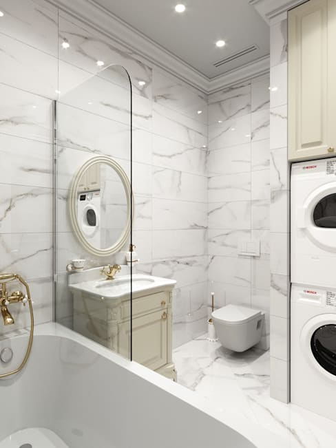 Baños de estilo  por Дизайн интерьера Киев|tishchenko.com.ua