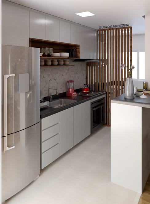 Cocinas pequeñas de estilo  por Lais Rosa Arquitetura