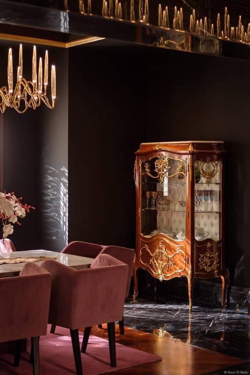 دوبليكس فى التجمع الخامس:  غرفة السفرة تنفيذ lifestyle_interiordesign