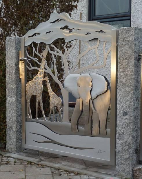 Edelstahl Tordesign:  Garten von Edelstahl Atelier Crouse - individuelle Gartentore