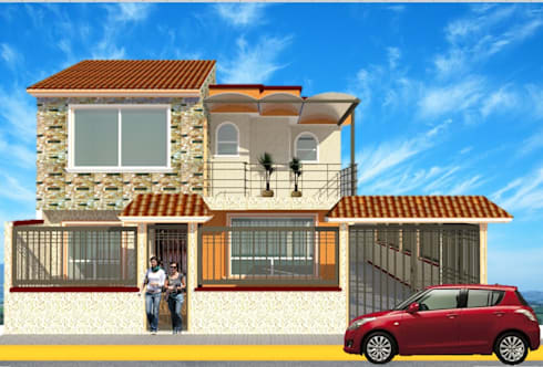 Fachada principal casa azahares: Casas de estilo rústico por DD Arquitectos