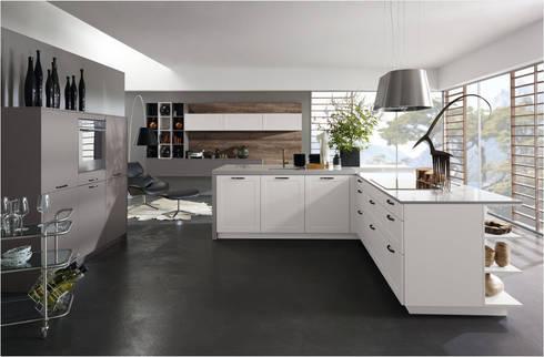 Küchenfronten weiß minimalistische küche von alno ag