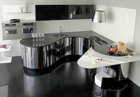 Luxusküche luxusküche italienische designerküche in edelstahl und echtholz by