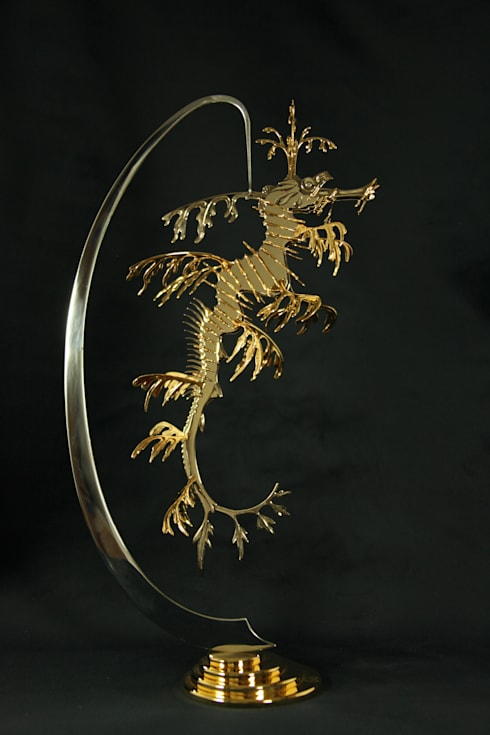 Leafy Sea Dragon (Skulptur) Kunstschmied Mark Prouse 	:  Flur, Diele & Treppenhaus von Kunstschmied Mark Prouse Elements