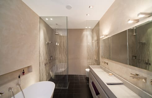 badezimmer mit mineralputz veredelt by einwandfrei innovative malerarbeiten ohg homify. Black Bedroom Furniture Sets. Home Design Ideas