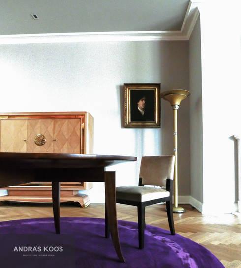 Harvestehuder Weg -  Penthouse:  Wohnzimmer von Andras Koos Architectural Interior Design
