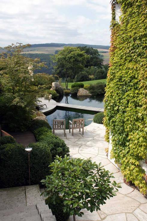 Kompletter Garten St. Goarshausen:  Garten von Kirchner Garten + Teich GmbH