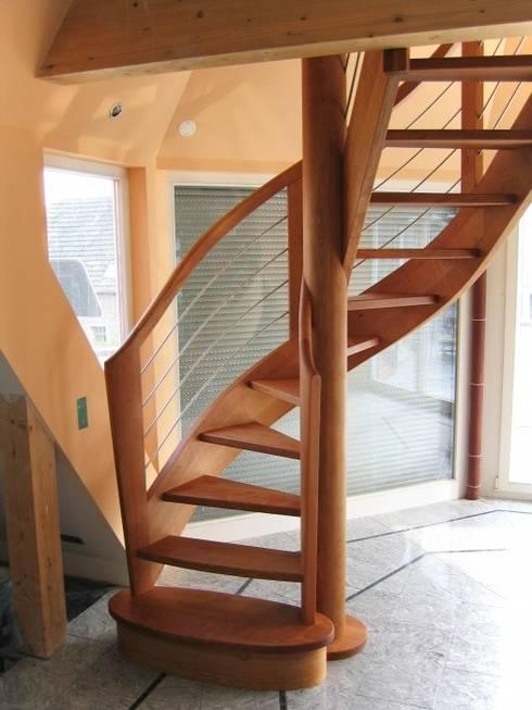 Прихожая, коридор и лестницы в . Автор – Lignum Möbelmanufaktur GmbH