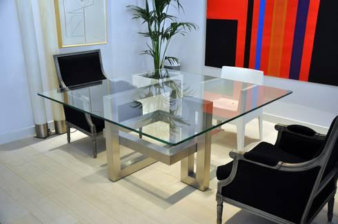 L nea alto dise o mesas de comedor de gonzalo de salas for Mesas de comedor cuadradas
