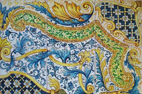 """Tappeto in maiolica""""Fleur"""": Pareti & Pavimenti in stile  di ghenos"""
