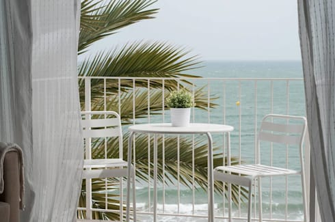 Balcón: Terrazas de estilo  de Marta Sellarès - Interiorista