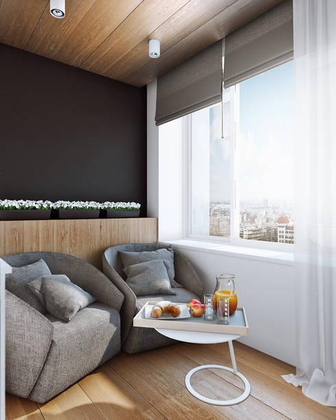 studio apartment: Tерраса в . Автор – Angelina Alekseeva