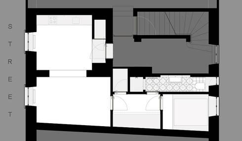 Umbau Mehrfamilienhaus München: Casas de estilo  de Brut Deluxe Architecture + Design