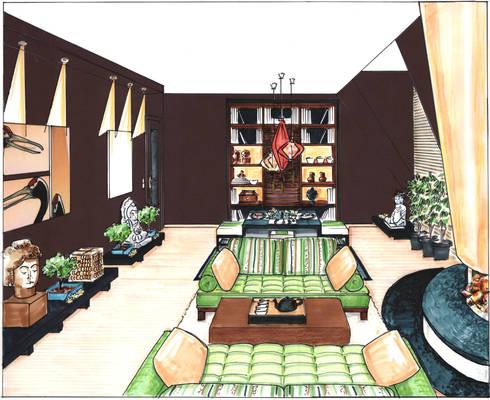 asiatisches wohnzimmer von innenarchitektin claudia. Black Bedroom Furniture Sets. Home Design Ideas
