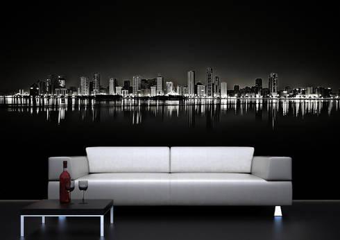 Ambienti: Pareti & Pavimenti in stile in stile Moderno di Affreschi & Affreschi