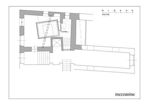 Hanging House: Soggiorno in stile in stile Industriale di Fabio Barilari Architetti