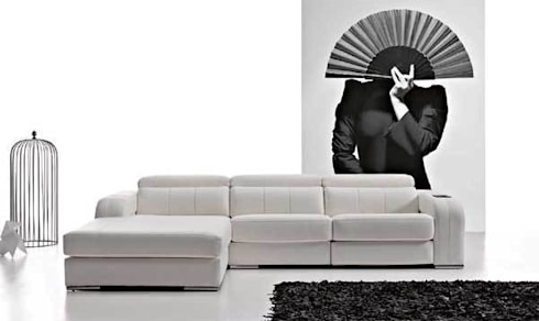 Sofa Bianca: Salones de estilo moderno de Arte Habitat Interiores