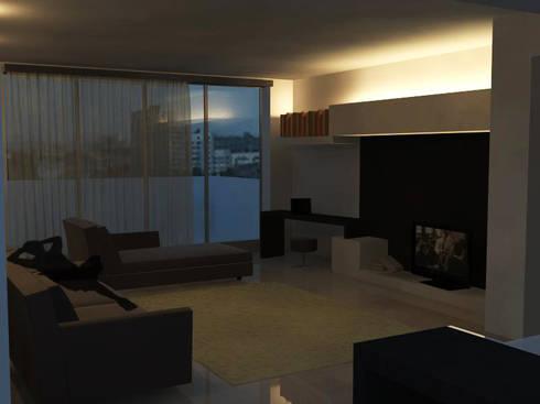 Flat Renovation: Soggiorno in stile in stile Moderno di interny