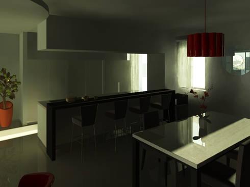 Flat Renovation: Cucina in stile in stile Moderno di interny