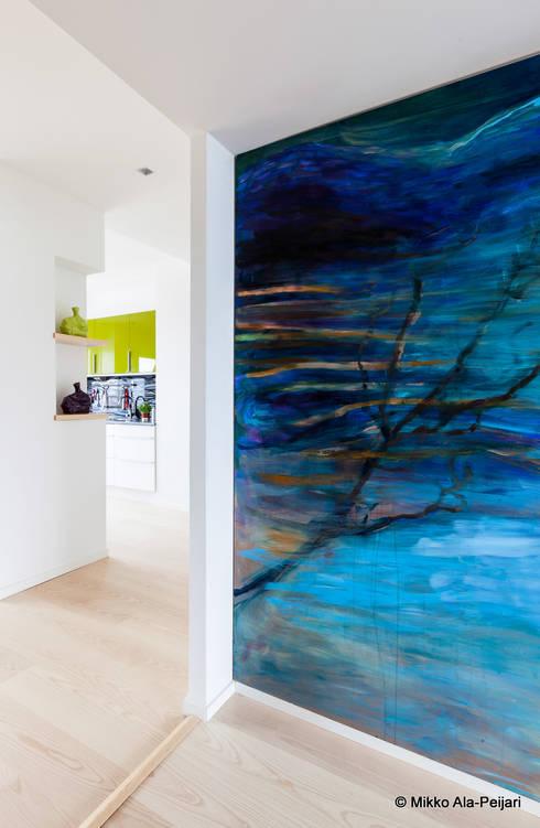 Livings de estilo escandinavo por Maurizio Giovannoni Studio