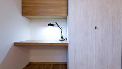 einbauschrank mit integriertem schreibtisch von held schreinerei ... - Schlafzimmer Mit Eingebautem Schreibtisch