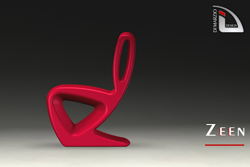 ZEEN chair: Soggiorno in stile in stile Moderno di dimarziodesign