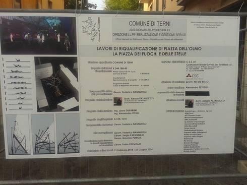 PIAZZA DELL' OLMO, TERNI: Spazi commerciali in stile  di Alessio Patalocco Architetto